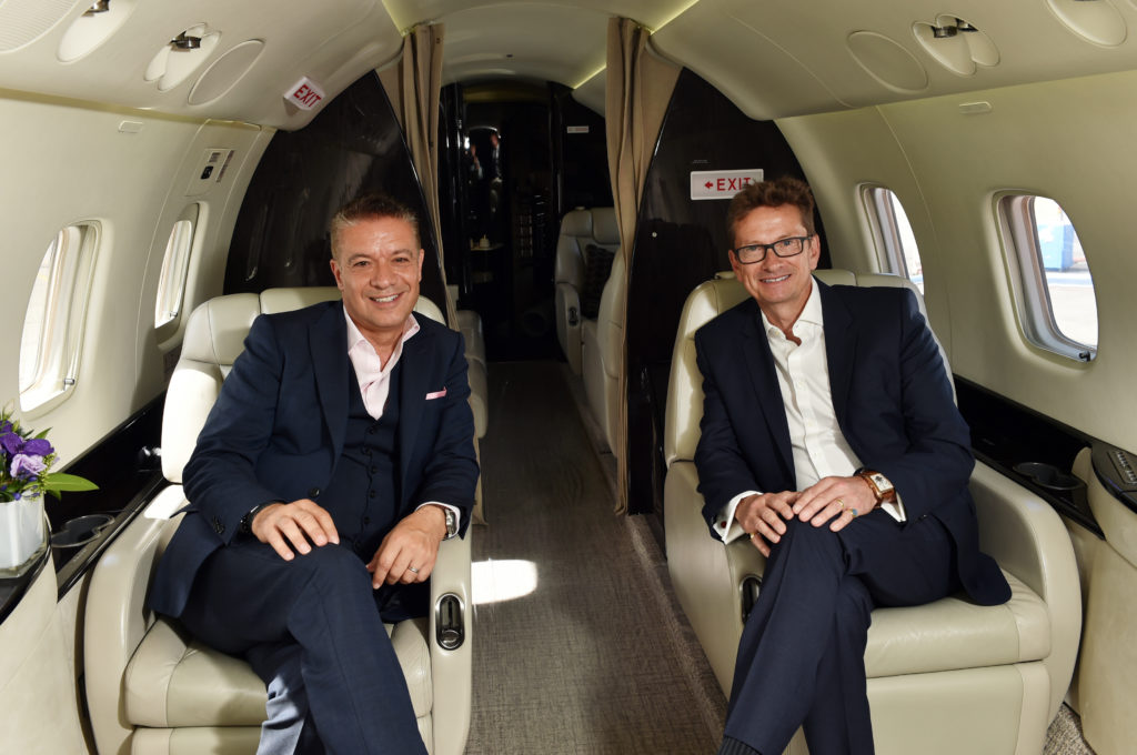 George Galanopoulos, managing director, and Patrick Margetson-Rushmore, chief executive, Luxaviation UK