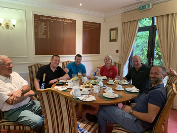 BBGA Golf Day Afternoon Tea with Wally Epton, james carroll, derek hepburn, caroline pennington, nick rose, dan holian