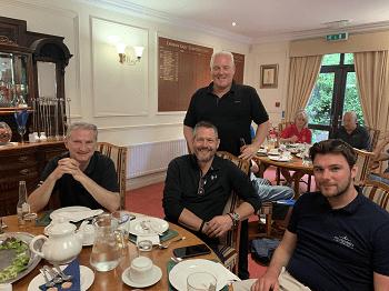 BBGA Golf day afternoon tea, jimmy larsen, nick maynard, chay white and Nils Janssen