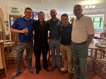 bbga golf day with Bradley Jones, john hewett, dan holian, ben abbott, wally epton