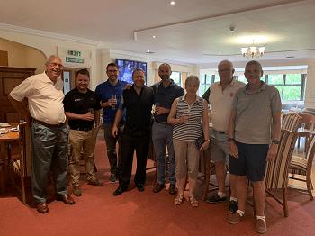 bbga golf day with Wally Epton, Ben Abbott, Bradely jones, john hewett, dan holian, Joanne Wilson, Alan Masketll,. Tm Ward