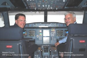 West Oxfordshire MP, Robert Courts visits Leading Edge Aviation